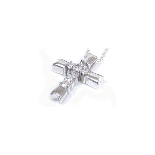 ダイヤモンドネックレス ペアネックレス クロス 十字架 ダイヤモンド ホワイトゴールドk18 チェーン 人気 18金 ダイヤ カップル 母の日