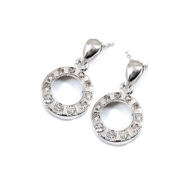ペアネックレス ダイヤモンド ホワイトゴールド チェーン 人気 18金 ダイヤ カップル 母の日