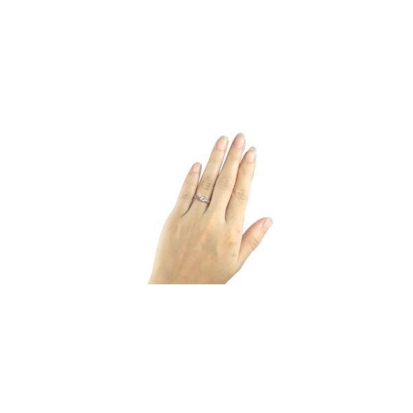 ピンキーリング ハワイアンジュエリー リング 一粒 指輪 ホワイトゴールドk18 ピンクゴールドk18 コンビリング ハワイアンリング 18金 k18wg k18pg ストレート|atrus|03