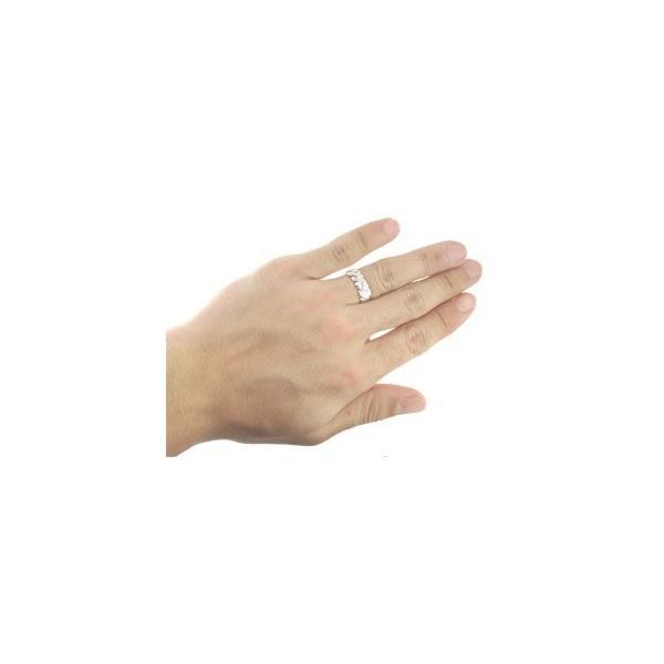 ハワイアンジュエリー ペアリング 結婚指輪 マリッジリング ホワイトゴールドk18 ミル打ち 地金リング シンプル 人気  プレゼント 女性 母の日