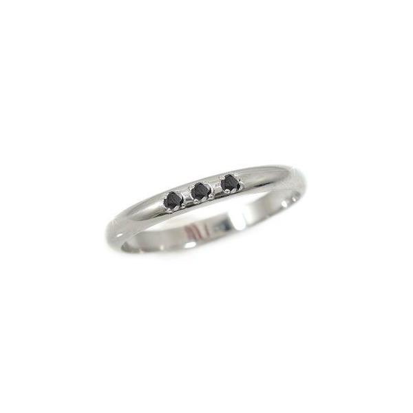 婚約指輪 安い エンゲージリング 婚約指輪 プラチナ ブラックダイヤモンド ダイヤ 0.03ct 指輪 ダイヤモンドリング ストレート 2.3 宝石  女性 母の日