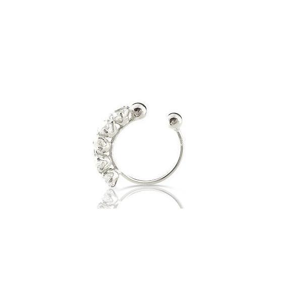 イヤリング ダイヤモンド ダイヤ 0.50ct オリジナル 簡単装着 フープイヤリング プラチナ900 誕生石 ノンホールピアス レディース 宝石 母の日