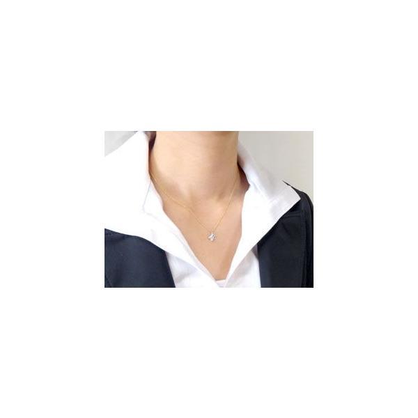 ダイヤモンド ネックレス一粒 ペンダント ネックレス ダイヤ 0.10ct イエローゴールドk18 18k チェーン 人気 18金 レディース プレゼント 女性 送料無料|atrus|03