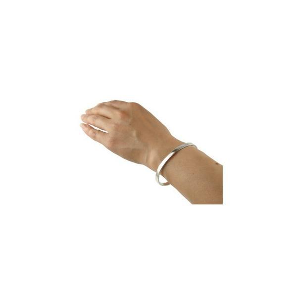 ブレスレット バングル ホワイトゴールドK18 シンプルバングル 18金 レディース 母の日