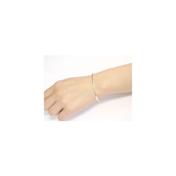 ブレスレット ペアバングル ペアブレスレット ピンクゴールドk18 プラチナ レディース メンズ カップル 18金 pt900
