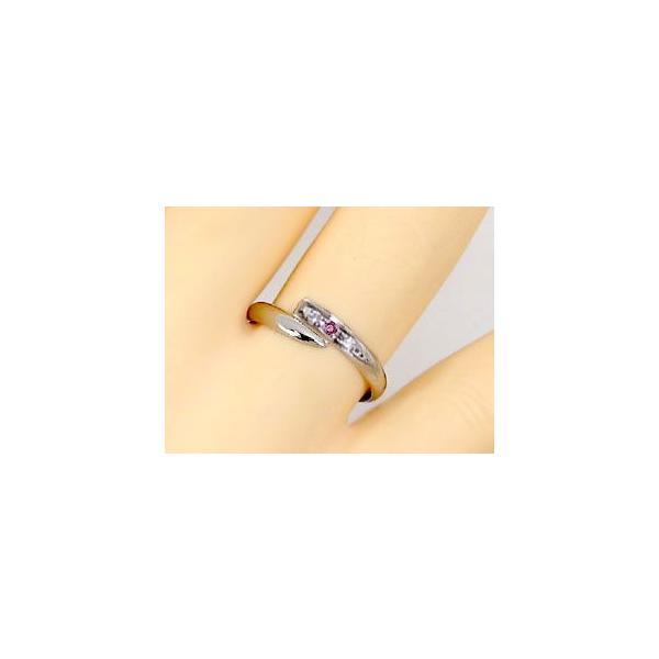 ストレート マリッジリング 甲丸 結婚指輪 ペアリング プラチナ ダイヤ ダイヤモンド ルビー 結婚式 カップル 2.3 メンズ レディース