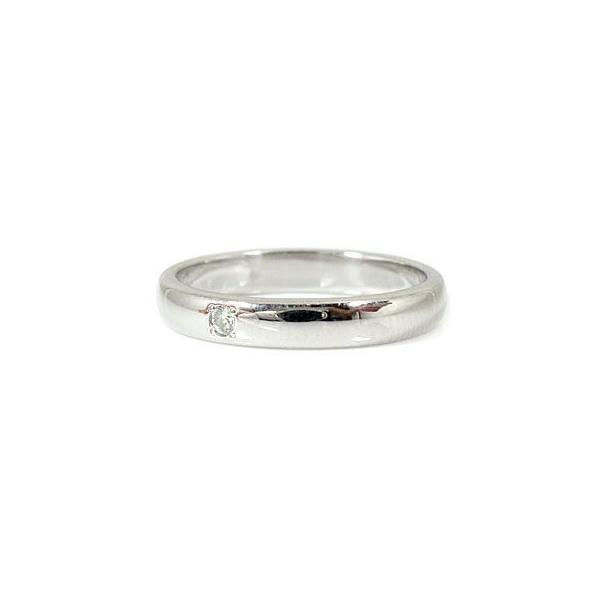 結婚指輪 安い 甲丸 ペアリング 結婚指輪 一粒 ダイヤ ダイヤモンド ブルーダイヤモンド プラチナ 結婚式 ダイヤ ストレート カップル  女性 母の日