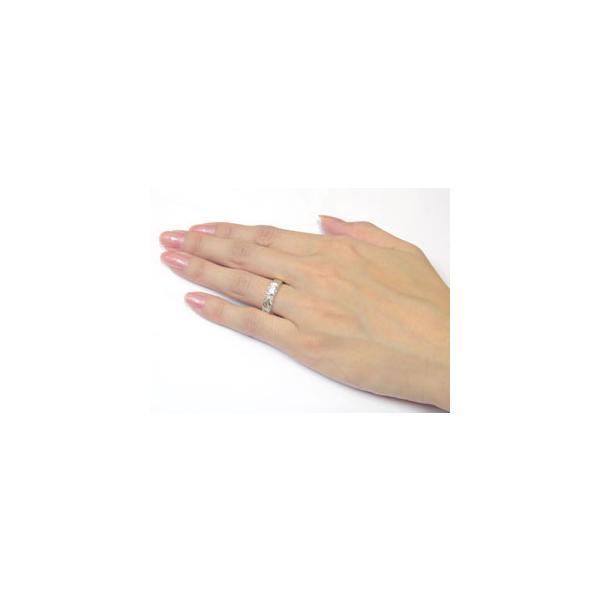 ハワイアンジュエリー ペアリング ダイヤモンド 結婚指輪 マリッジリング イエローゴールドk18 ホワイトゴールドk18 一粒 大粒 結婚式 ダイヤ 18金 ストレート