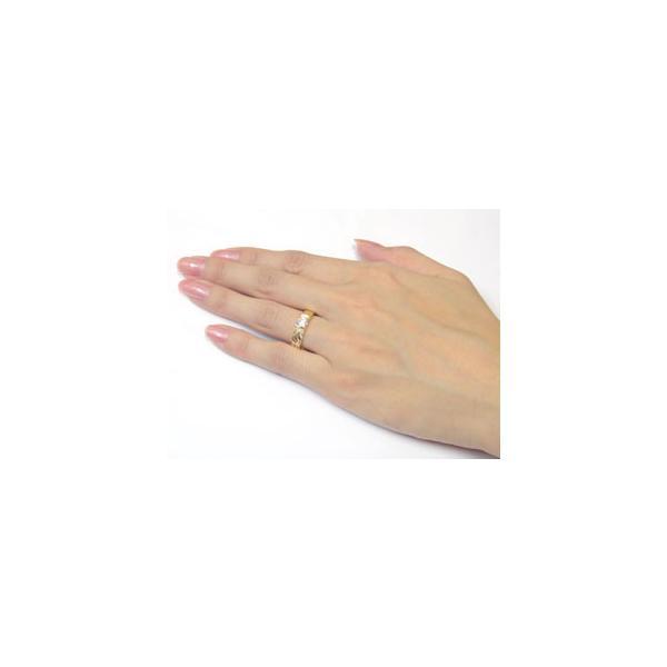 マリッジリング 鑑定書付き 結婚指輪 ペアリング イエローゴールドk18 ホワイトゴールドk18 ハワイアンジュエリー ダイヤモンド 一粒大粒 SI 結婚式 18金 ダイヤ