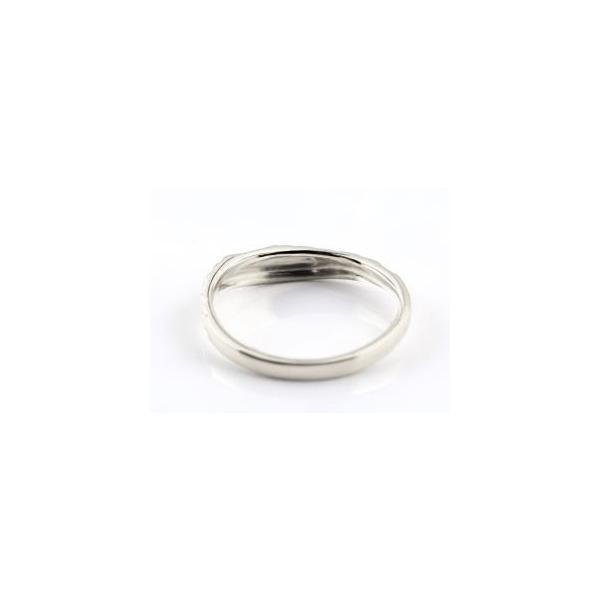 結婚指輪 ハワイアン ペアリング ハート 刻印 ホワイトゴールドk18 地金リング 18金 k18wg ストレート カップル シンプル 人気  プレゼント 女性 atrus 03