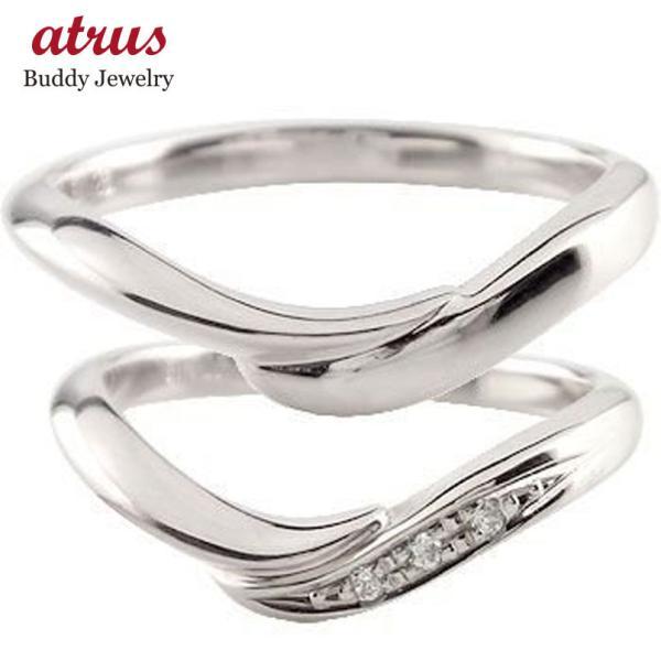 結婚指輪 ペアリング プラチナ ダイヤ ダイヤモンド マリッジリング 結婚式 ストレート カップル メンズ レディース