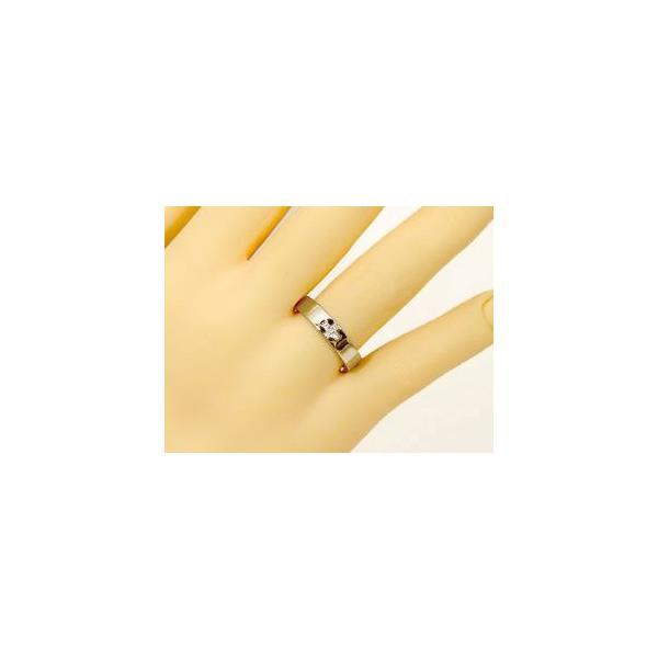 婚約指輪 エンゲージリング クロス ダイヤモンド イエローゴールドK18 18金 ダイヤモンドリング ダイヤ ストレート  プレゼント 女性 ペア 母の日