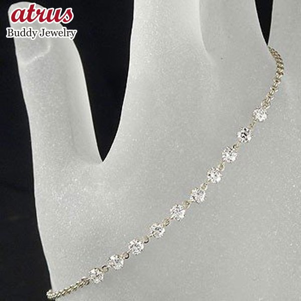 プラチナ ブレスレット メンズ ダイヤモンド ダイヤモンド チェーン ダイヤ 男性用 宝石 送料無料