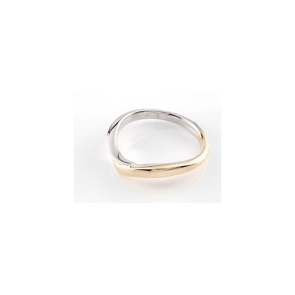 結婚指輪 ペアリング プラチナ ダイヤ ダイヤモンド マリッジリング イエローゴールドk18 結婚式 18金 ストレート カップル メンズ レディース