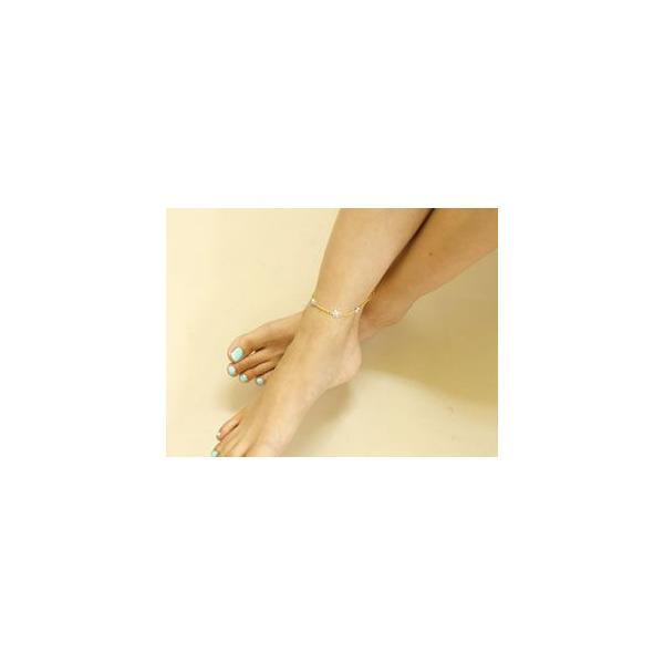 ハワイアンジュエリー ハワイアン アンクレット 花 キュービックジルコニア シルバー sv925 母の日