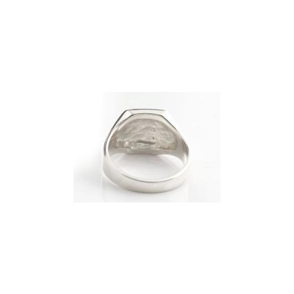 メンズ プラチナ リング ダイヤモンド 印台 指輪ピンキーリング ダイヤ ストレート 男性用 送料無料|atrus|03