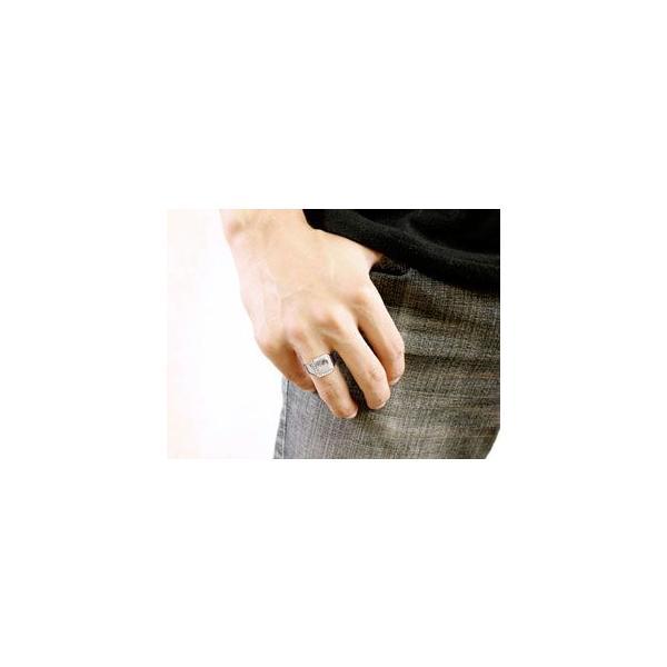 メンズ プラチナ リング ダイヤモンド 印台 指輪ピンキーリング ダイヤ ストレート 男性用 送料無料|atrus|04