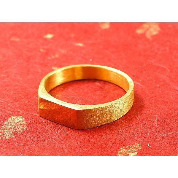 24金 指輪 メンズ 純金 リング 印台 幅広 k24 24k 金 ゴールド ピンキーリング シンプル 人気 男性用 送料無料|atrus|02