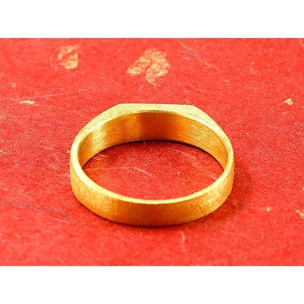 24金 指輪 メンズ 純金 リング 印台 幅広 k24 24k 金 ゴールド ピンキーリング シンプル 人気 男性用 送料無料|atrus|03