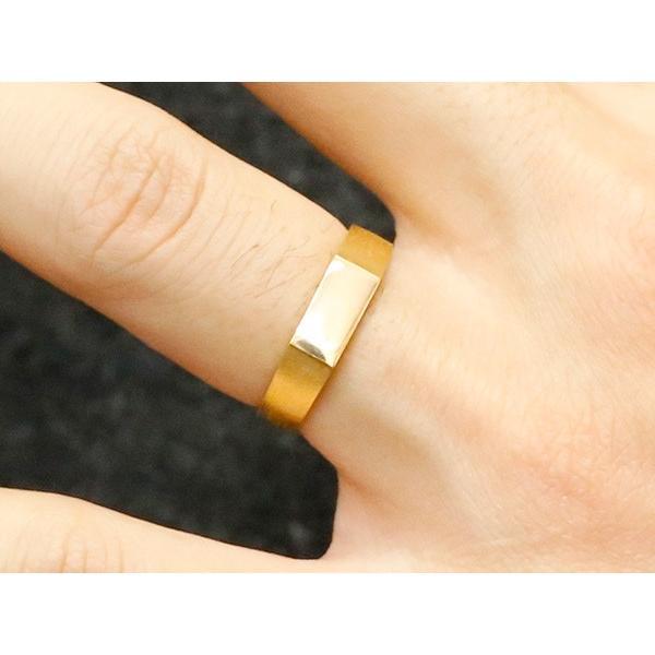 24金 指輪 メンズ 純金 リング 印台 幅広 k24 24k 金 ゴールド ピンキーリング シンプル 人気 男性用 送料無料|atrus|04