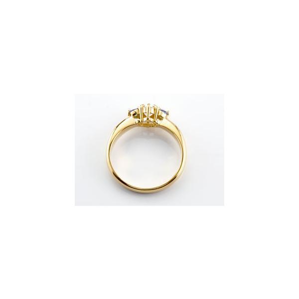 鑑定書付き 婚約指輪  エンゲージリング ダイヤモンド リング アメジスト 指輪 大粒 ダイヤ イエローゴールドK18 18金 ダイヤ ストレート 宝石 母の日