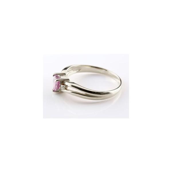 リング ハート ピンクトルマリン キュービックジルコニア 指輪 シルバー ストレート 宝石 母の日