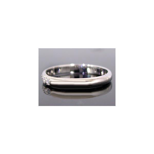 ストレート マリッジリング 甲丸 結婚指輪 ペアリング プラチナ ダイヤ ダイヤモンド ブルー 結婚式 カップル メンズ レディース 宝石