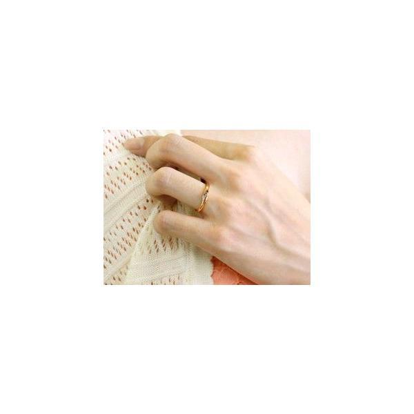 ペアリング ダイヤモンド 結婚指輪 マリッジリング ピンクゴールドk18 シンプル つや消し 18金 ダイヤ ストレート スイートペアリィー 母の日