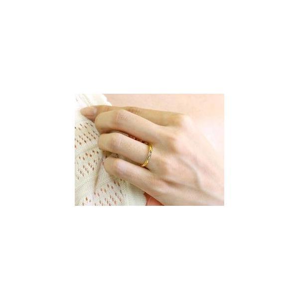 ペアリング ダイヤモンド 結婚指輪 マリッジリング プラチナ イエローゴールドk18 つや消し pt900 18金 ダイヤ スイートペアリィー 秋 冬|atrus|03