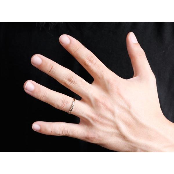 結婚指輪 安い 結婚指輪 マリッジリング ハワイアンジュエリー ペアリング プラチナ ピンクゴールドk18 ハワイアンリング ストレート 地金 pt900 カップル