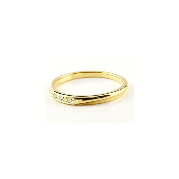 婚約指輪 エンゲージリング ダイヤモンドリング ダイヤ 指輪 イエローゴールドk10 10金 つや消し レディース ストレート スリーストーン  女性 母の日