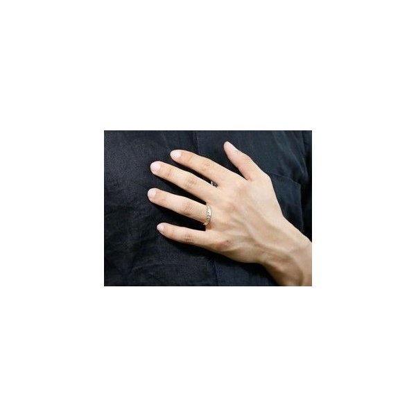 結婚指輪 安い ハワイアンジュエリー プラチナペアリング プラチナ結婚指輪 マリッジリング 地金リング リーガルタイプ イエローゴールドk18 幅広 ミル打ち 18金