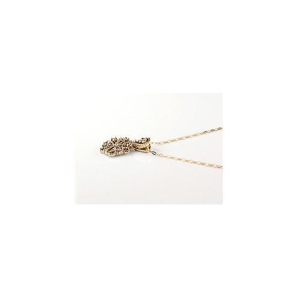雪の結晶 ネックレス ダイヤモンド ペンダント ピンクゴールドk18 ダイヤ スノーモチーフ ミル打ち 18金 レディース チェーン 人気 母の日