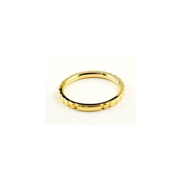 マリッジリング プラチナ 結婚指輪 ペアリング 人気 地金リング カットリング イエローゴールドk18 結婚式 シンプル 宝石なし 18金 ストレート カップル 母の日