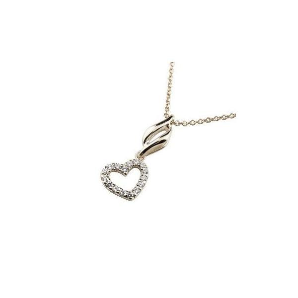 ダイヤモンド オープンハート ネックレス パヴェ プラチナ ペンダント ハート ダイヤ pt900 レディース チェーン 人気 母の日