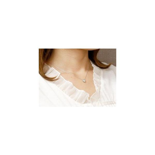 ハワイアンジュエリー ハート ネックレス ダイヤモンド プチネックレス ホワイトゴールドk18 マイレ ミル打ちデザイン チェーン 人気 18金 レディース 宝石