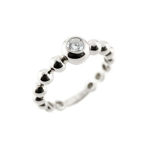 指輪 丸玉 ボールリング スワロフスキースワロフスキーキュービックジルコニア シルバー 一粒 大粒 レディース ストレート 母の日