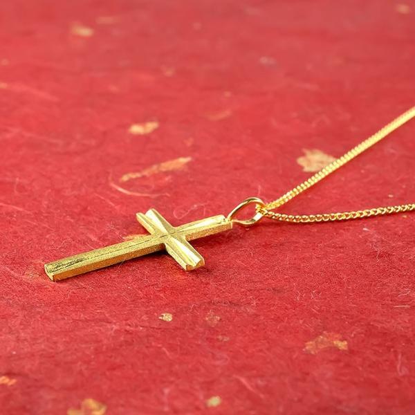 24金 ネックレス メンズ 純金 24金 ゴールド クロス 十字架 24K ペンダント ゴールド k24 メンズ 男性用  シンプル 送料無料|atrus|03