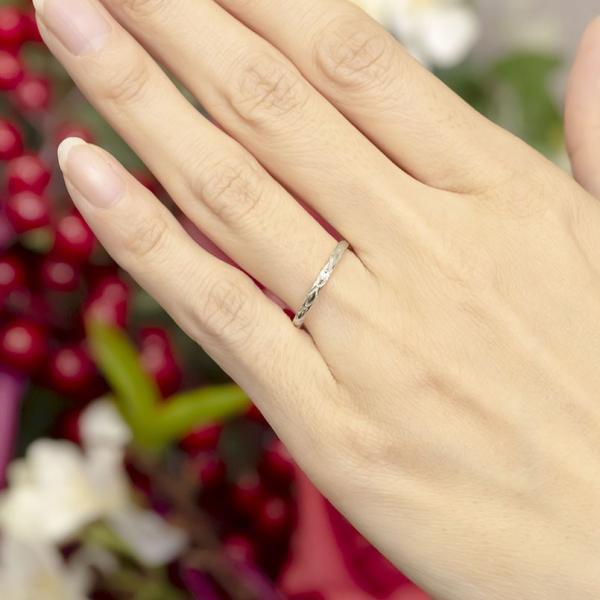 結婚指輪 安い ペアリング プラチナ ダイヤモンド 結婚指輪 マリッジリング リング 一粒 pt900 華奢 アンティーク スイートペアリィー カップル  最短納期|atrus|05