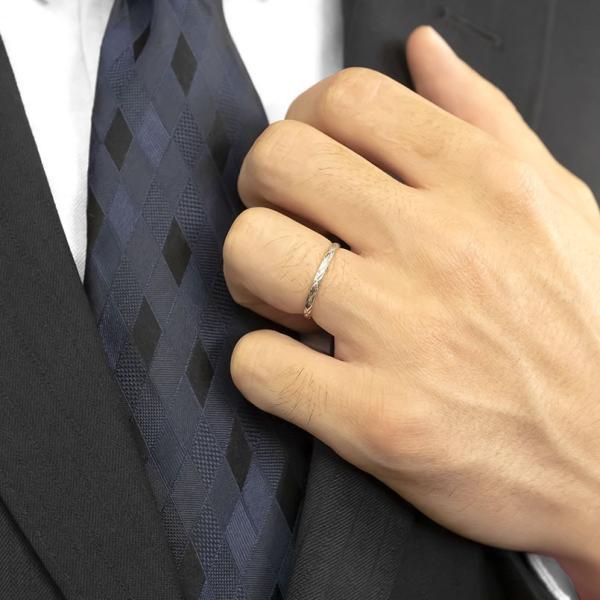 結婚指輪 安い ペアリング プラチナ ダイヤモンド 結婚指輪 マリッジリング リング 一粒 pt900 華奢 アンティーク スイートペアリィー カップル  最短納期|atrus|06