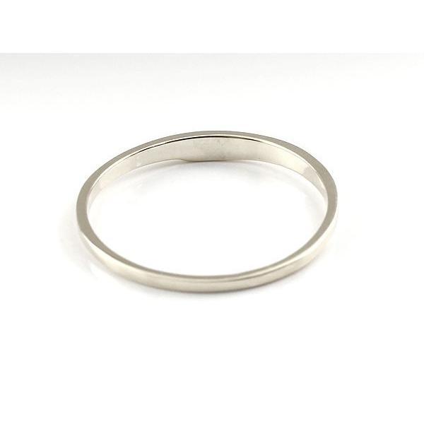 ピンキーリング ダイヤモンド ホワイトゴールドk18 一粒 18金 極細 華奢 指輪 母の日