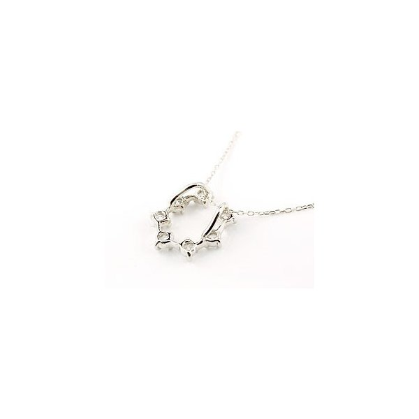 馬蹄 ネックレス ダイヤモンド ホースシュー 蹄鉄 ペンダント ホワイトゴールドk18 ダイヤ 18金 チェーン 人気 レディース バテイ 母の日