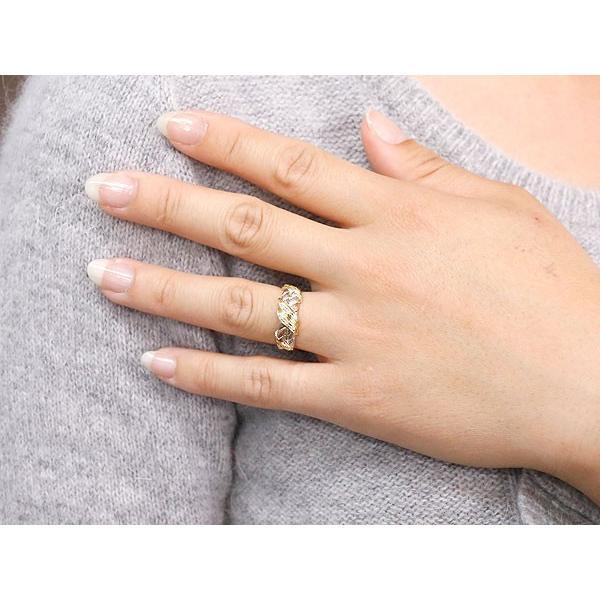 婚約指輪 安い エンゲージリング ダイヤモンド リング 3色 指輪 ダイヤ ピンキーリング 幅広指輪 スリーカラー プラチナ ゴールド アンティーク風 レディース