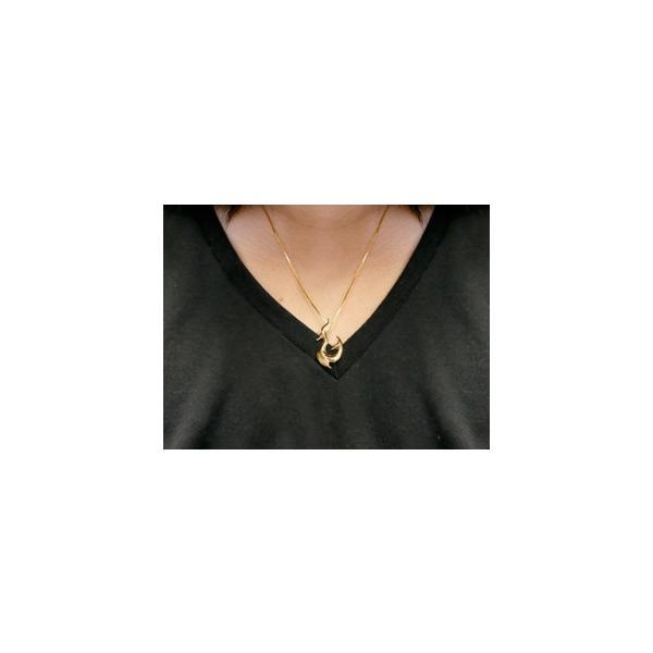純金 メンズ ネックレス フィッシュフック 24金 ゴールド 24K ホエールテール 釣針 ペンダント マリン系 地金 シンプル k24 チェーン 人気 男性用|atrus|03