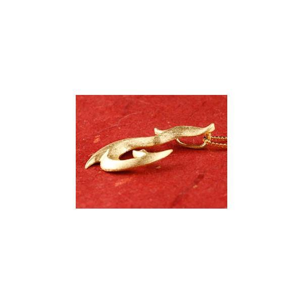 純金 メンズ ネックレス フィッシュフック 24金 ゴールド 24K ホエールテール 釣針 ペンダント マリン系 地金 シンプル k24 チェーン 人気 男性用|atrus|05