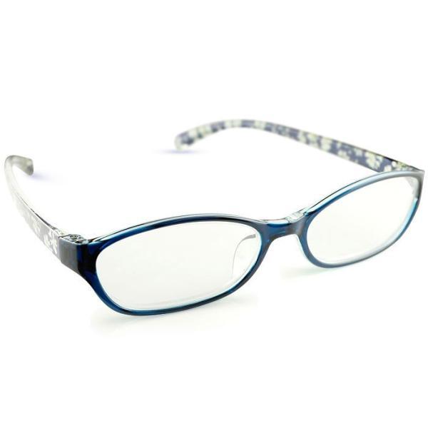 メガネ リーディンググラス 老眼鏡 レディース ミセス +1.50 拡大鏡 作業用 ブルー おしゃれ かわいい クリスチャン・オジャール 女性用 めがね