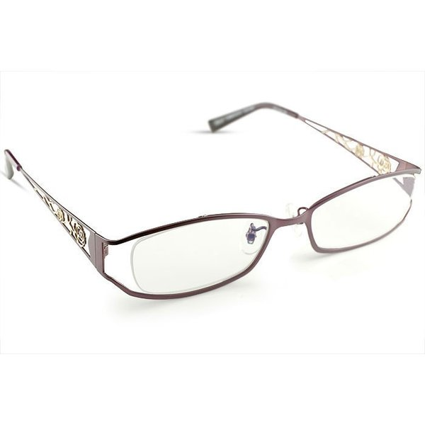メガネ リーディンググラス 老眼鏡 レディース ミセス +1.00 拡大鏡 作業用 ブルー おしゃれ かわいい クリスチャン・オジャール 女性用 めがね