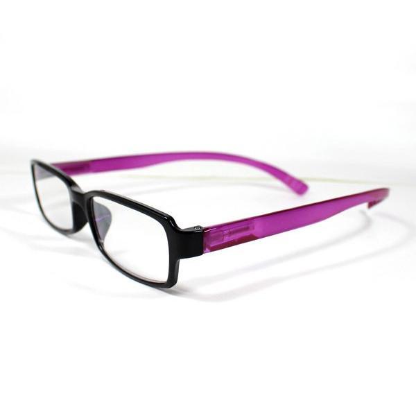 メガネ Bayline ベイライン リーディンググラス ネックリーダー 老眼鏡 レディース ミセス +1.50 拡大鏡 スタンダード クリアバイカラー ピンク あすつく