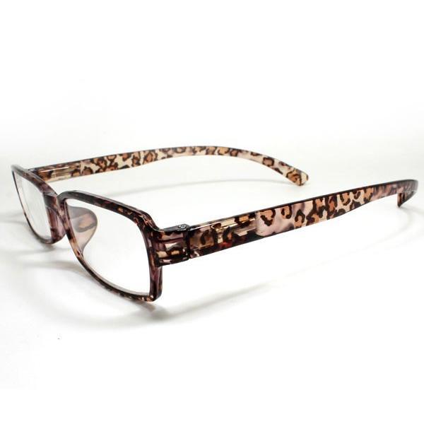 メガネ Bayline ベイライン リーディンググラス ネックリーダー 老眼鏡 レディース ミセス +2.50 拡大鏡 スタンダード クリアヒョウ ブラウン 女性用 めがね