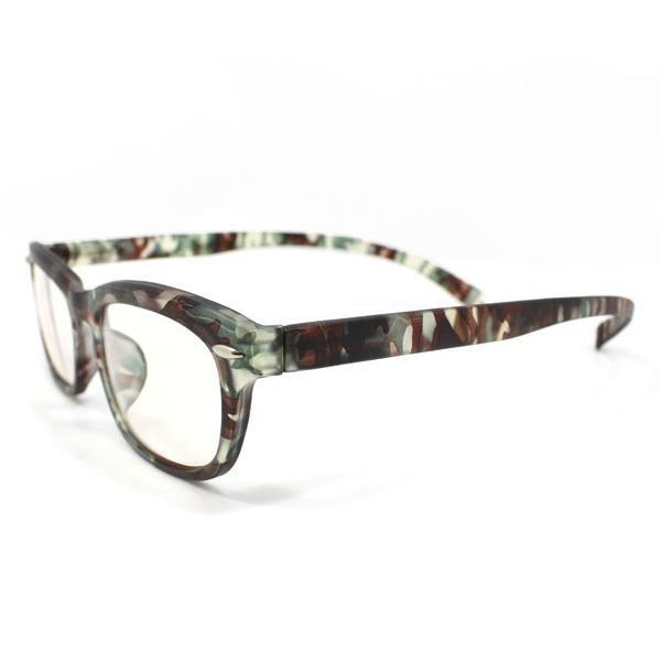 メガネ Bayline ベイライン リーディンググラス ネックリーダー 老眼鏡 レディース ミセス +1.50 拡大鏡 ウェリントン カモフラージュ あすつく